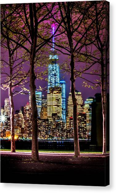 New York Skyline Canvas Print - Bright Future by Az Jackson