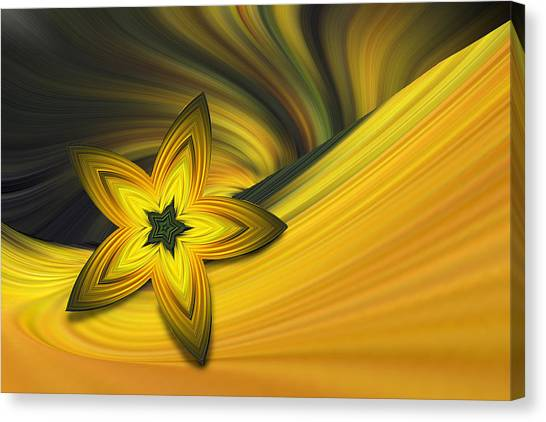 Bright Golden Star Canvas Print by Linda Phelps