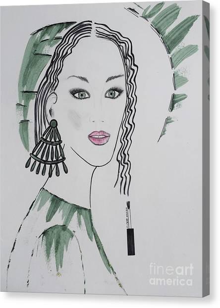 Bright Lady Canvas Print