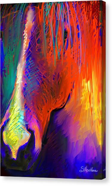 Bright Mustang Horse Canvas Print