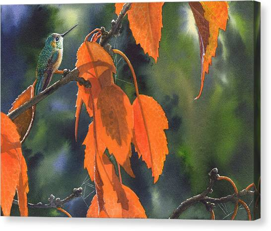 Bright Orange Leaves Canvas Print