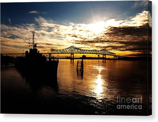 Mississippi River Canvas Print - Bright Time On The River by Scott Pellegrin