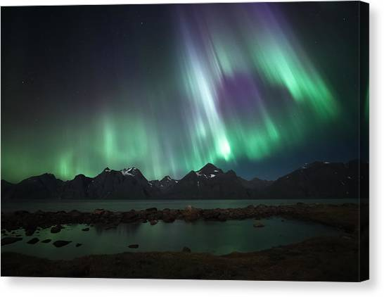 Aurora Borealis Canvas Print - Bright by Tor-Ivar Naess