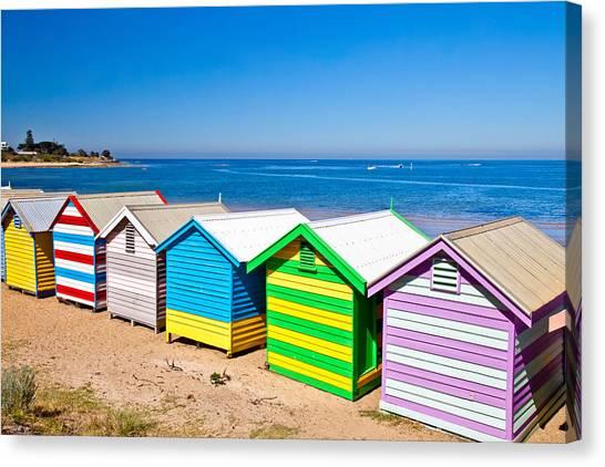 Victoria Canvas Print - Brighton Beach Huts by Az Jackson