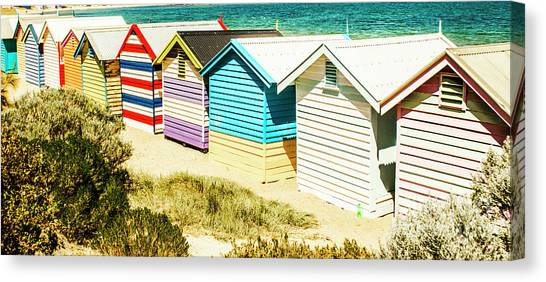 Bathing Canvas Print - Brighton Beach, Melbourne by Jorgo Photography - Wall Art Gallery