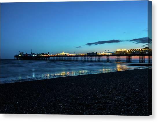 Brighton Pier At Sunset Ix Canvas Print