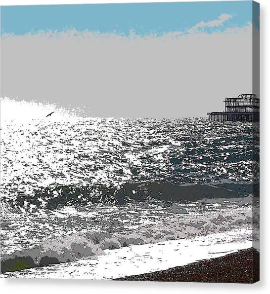 Brighton West Peer Canvas Print