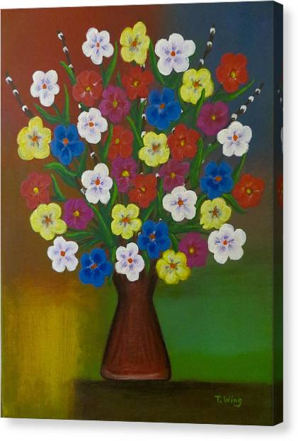 Brilliant Bouquet Canvas Print