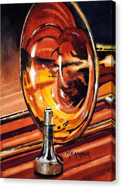 Trombones Canvas Print - Brilliant Brass by Spencer Meagher