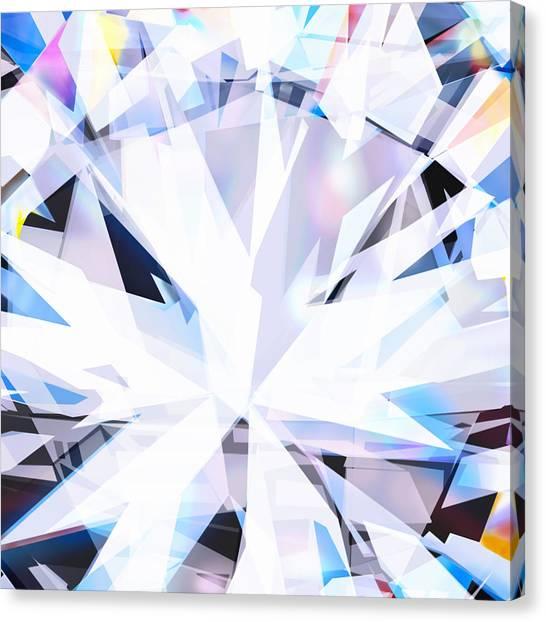 Three Dimensional Canvas Print - Brilliant Diamond  by Setsiri Silapasuwanchai