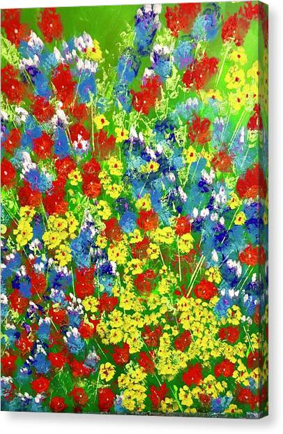 Brilliant Florals Canvas Print