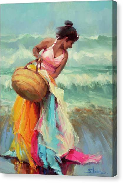 Coast Canvas Print - Brimming Over by Steve Henderson