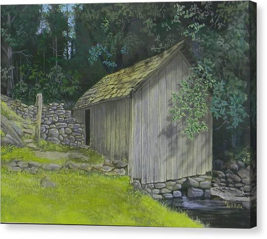 Brinegar Cabin Springhouse Canvas Print