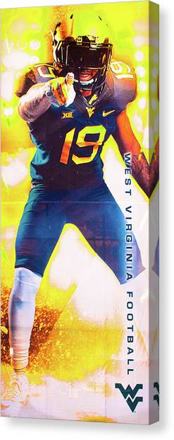 West Virginia University Wvu Canvas Print - Bring On The Mountaineers by Aaron Geraud