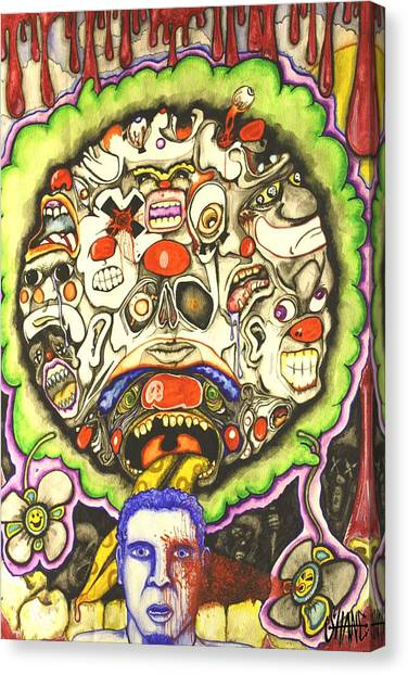 Bring Out The Clowns Canvas Print by Sam Hane
