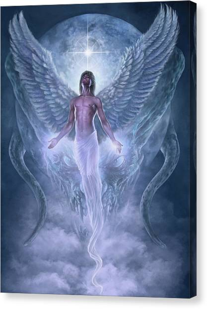 Canvas Print featuring the digital art Bringer Of Light by Uwe Jarling