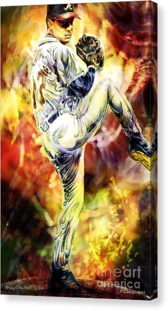 Bringin' The Heat Canvas Print