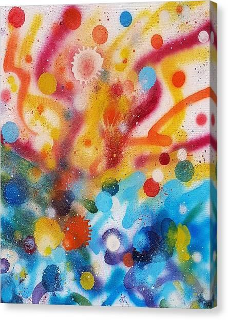 Bringing Life Spray Painting  Canvas Print