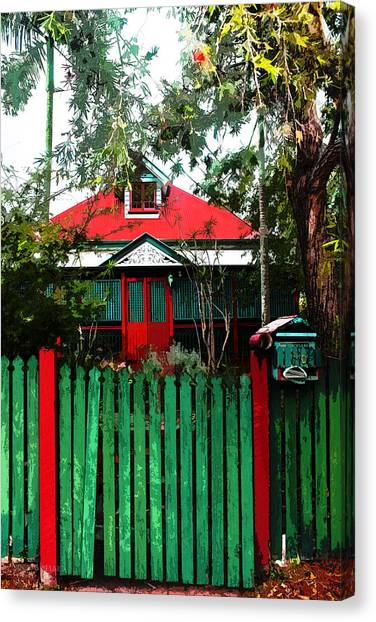 Brisbane Queenslander Canvas Print