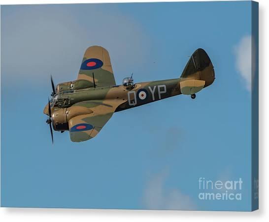 Bristol Canvas Print - Bristol Blenheim Mk.1 by Adrian Evans