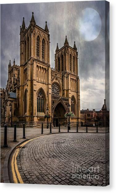 Bristol Canvas Print - Bristol Cathedral by Adrian Evans