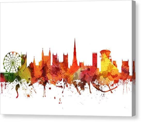 Bristol Canvas Print - Bristol Cityscape 04 by Aged Pixel