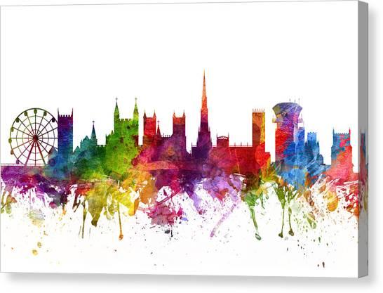Bristol Canvas Print - Bristol England Cityscape 06 by Aged Pixel