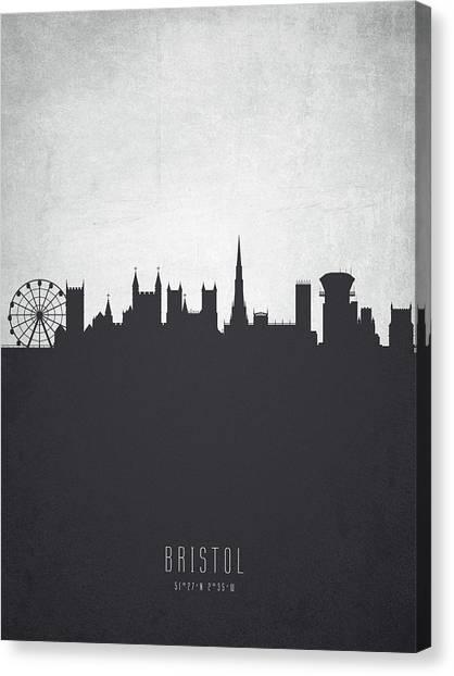 Bristol Canvas Print - Bristol England Cityscape 19 by Aged Pixel