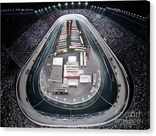 Bristol Motor Speedway Racing The Way It Ought To Be Canvas Print