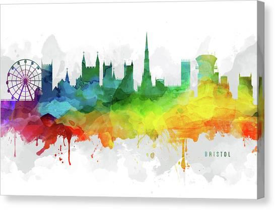 Bristol Canvas Print - Bristol Skyline Mmr-gbbr05 by Aged Pixel