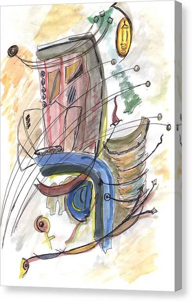 Jasper Johns Canvas Print - British Air First Class by Kevin Callahan