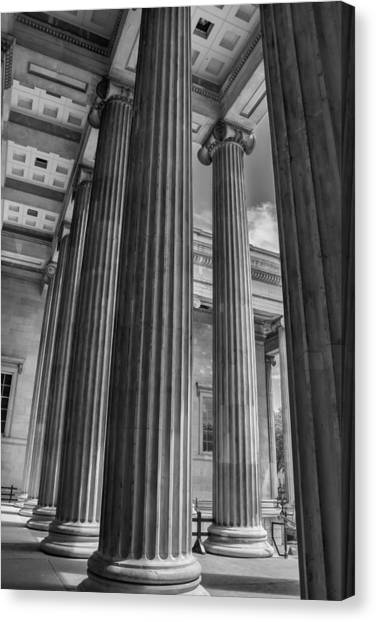 The British Museum Canvas Print - British Museum Architecture by Georgia Fowler