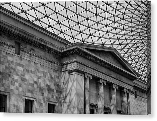 The British Museum Canvas Print - British Museum Ceiling And Pillars by Georgia Fowler