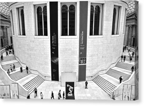 The British Museum Canvas Print - British Museum Great Court Uptairs by RicardMN Photography