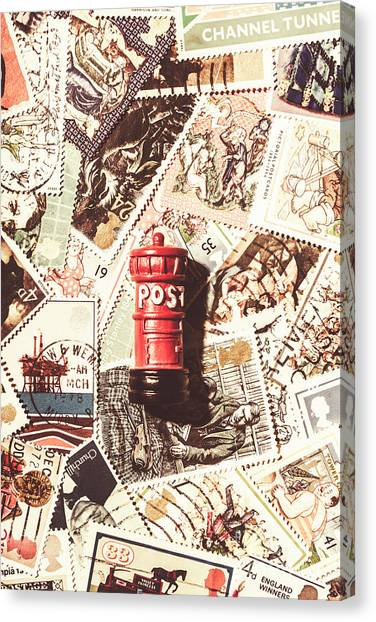 Communications Canvas Print - British Post Box by Jorgo Photography - Wall Art Gallery