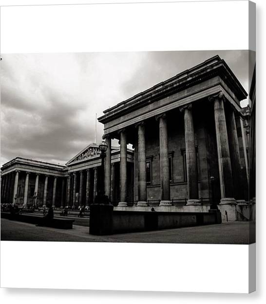 London Canvas Print - #britishmuseum #london #thisislondon by Ozan Goren