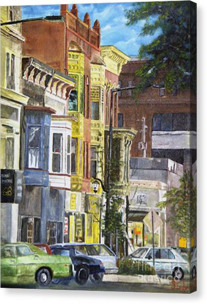 Broad Street Canvas Print by CJ  Rider
