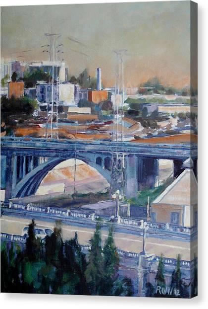 Broadway Bridge Canvas Print