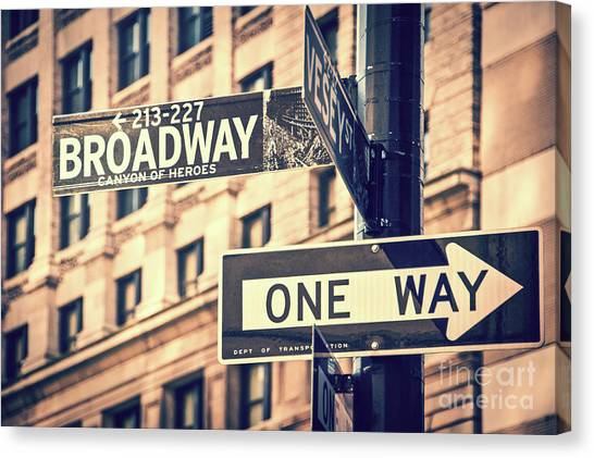 One Direction Canvas Print - Broadway by Delphimages Photo Creations