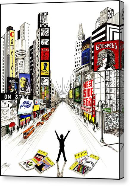 Canvas Print - Broadway Dreamin' by Marilyn Smith