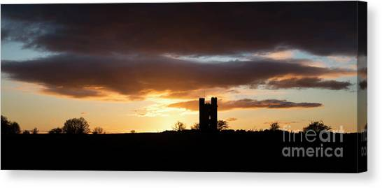 Rainclouds Canvas Print - Broadway Tower At Sunset by Tim Gainey