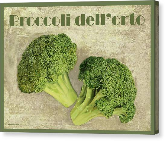 Broccoli Canvas Print - Broccoli Da Orto by Guido Borelli