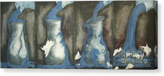 Broke Down- This Vase Cannot Hold Any More Canvas Print by Sarah Goodbread