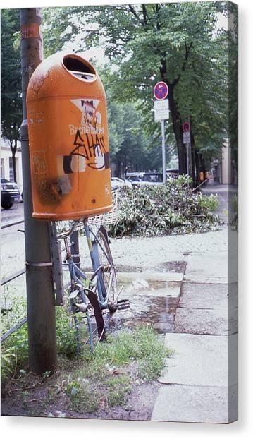 Broken Bike In Berlin Canvas Print