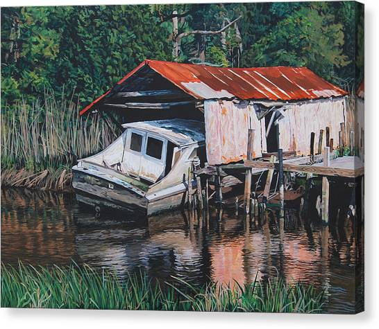 Broken Boat Canvas Print