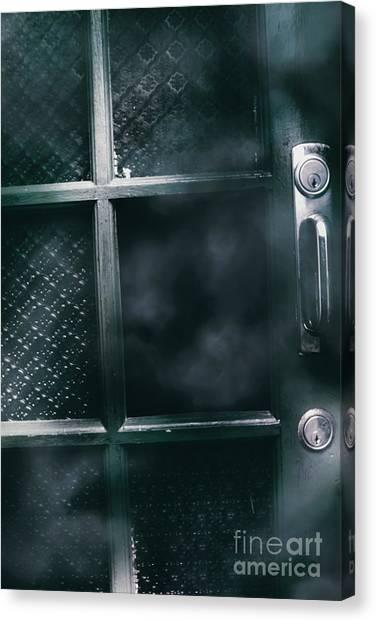 Old Door Canvas Print - Broken Doors With Hollow Holes by Jorgo Photography - Wall Art Gallery