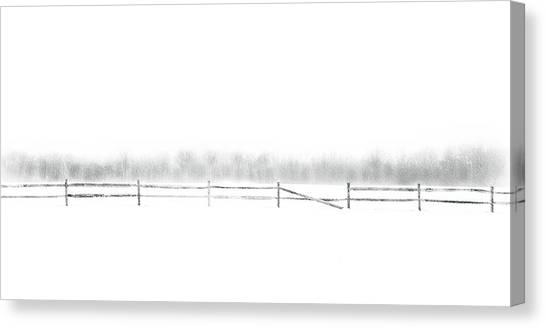 Winter Canvas Print - Broken Fence by Dan Hayes