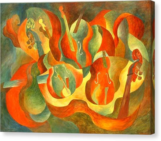 Broken Fiddle Canvas Print