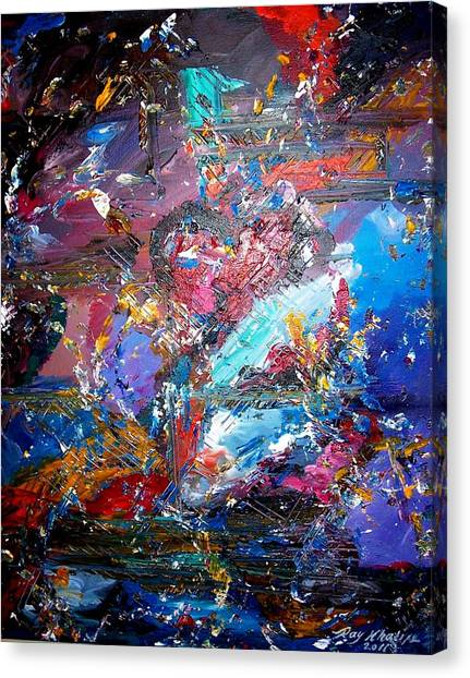 Canvas Print featuring the painting Broken Heart by Ray Khalife