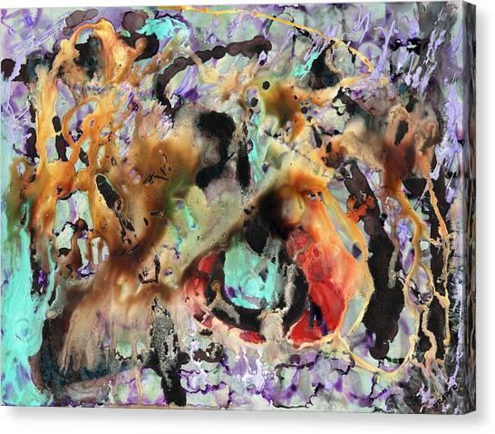 Broken Hearted Purple Crazy Man Blues Canvas Print by James Douglas Draper